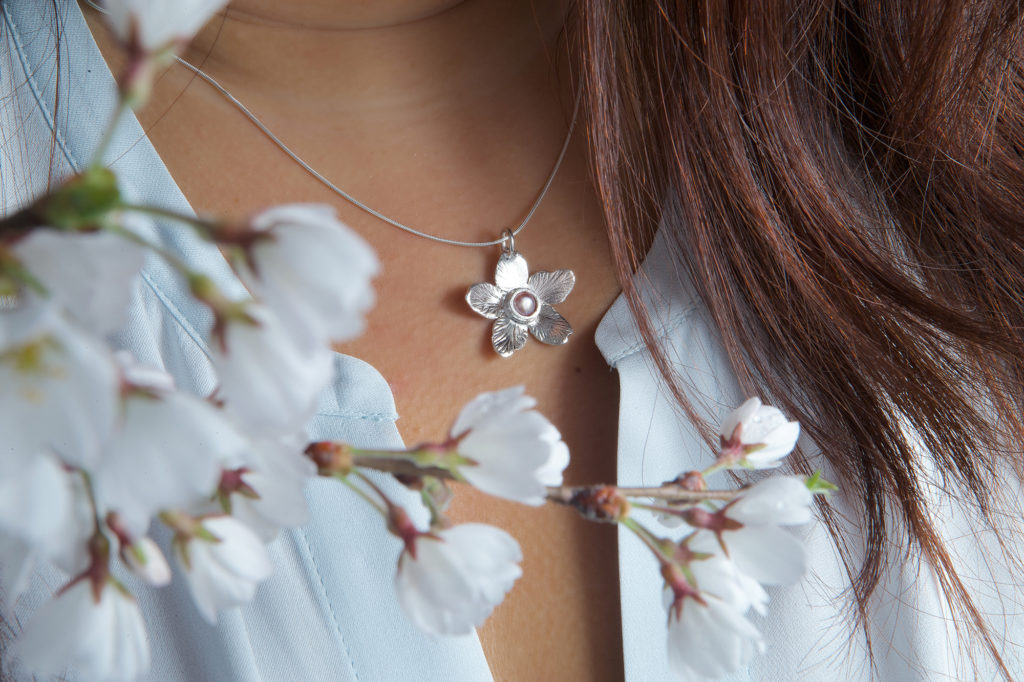 Photo by Joshua Hoover - Cherry Blossom Pendant with Pearl
