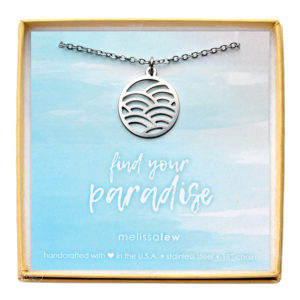 Stainless Steel Wave Necklace